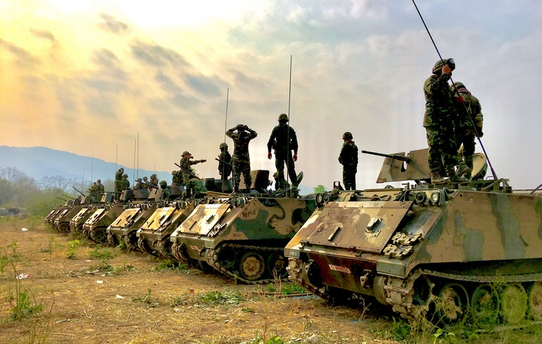 Army and tanks